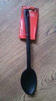 Black plastic serving spoon (Code 2166)